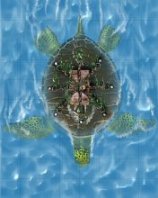 Giant Sea Turtle with Strongbox